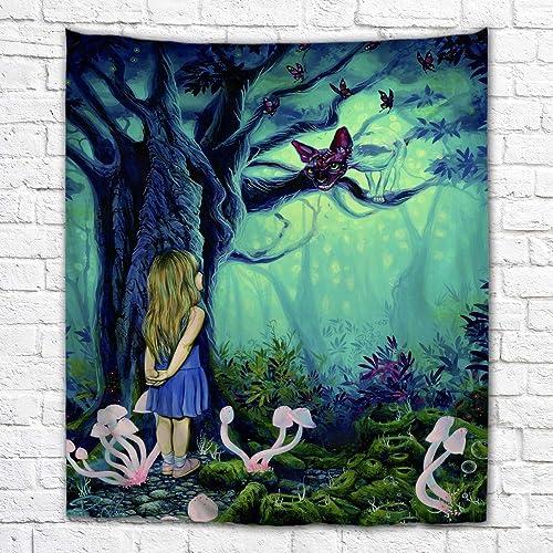 Imagination of Robert Walker Alice in Wonderland Cheshire Cat Large Art Tapestry