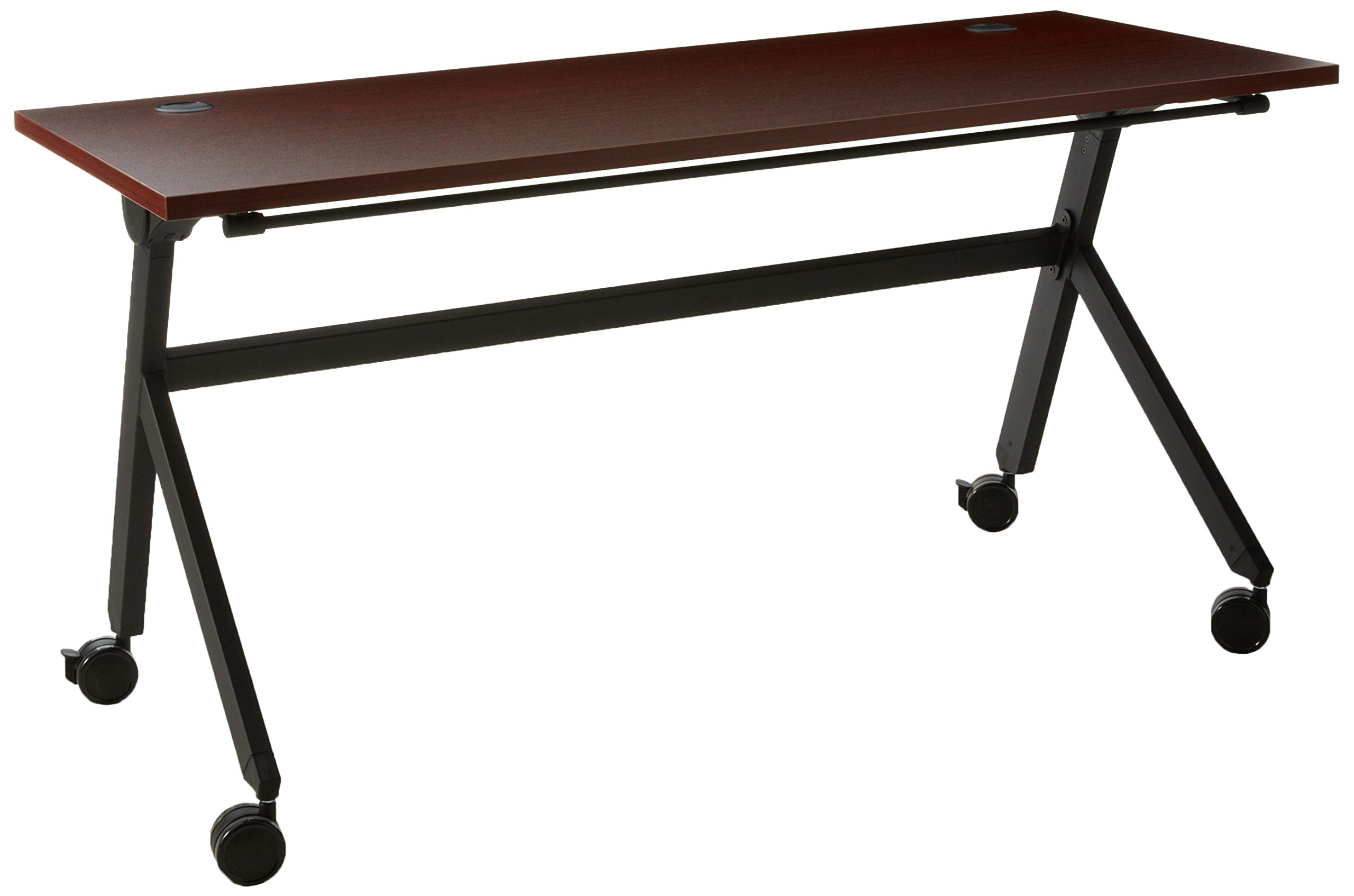 HON Assemble Flip Base Multi-Purpose Table, 60-Inch, Chestnut/Black by HON