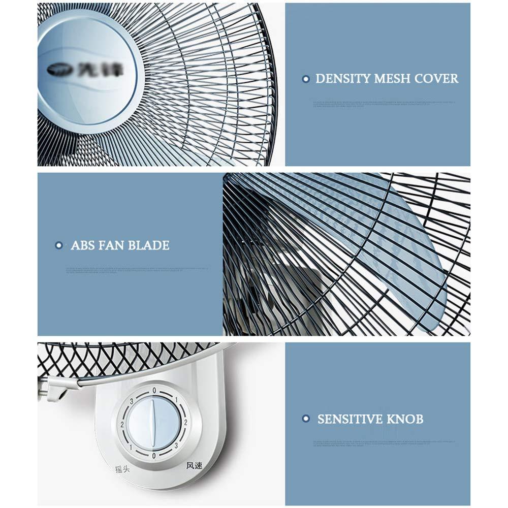 Ventilateur Mural Oscillant Murale Muraux Oscillation 51.5cm Circulateur dair 3 Vitesses 60w pour Maison Bureau Industriel