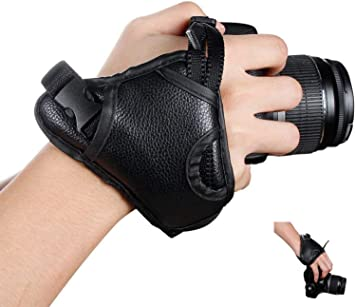 NEW OP//TECH Neoprene Digital SLR Camera Hand Grip Wrist Strap Black Canon Nikon