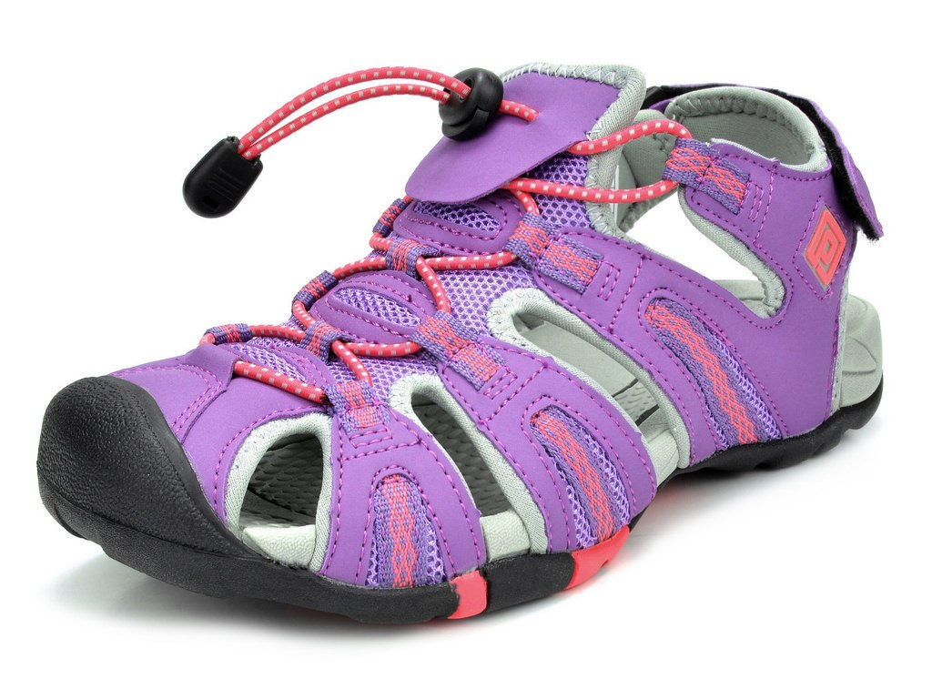 DREAM PAIRS Women's 160912-W Adventurous Summer Outdoor Sandals B01MYWWLOA 5.5 B(M) US|Purple Grey