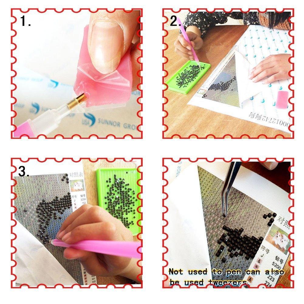 Dinosuar Diamond Painting Kits Square Full Drill Diamond Dotz Kits for Adults (Purple Dragon, 19.6''29.5'') by wanxing (Image #3)
