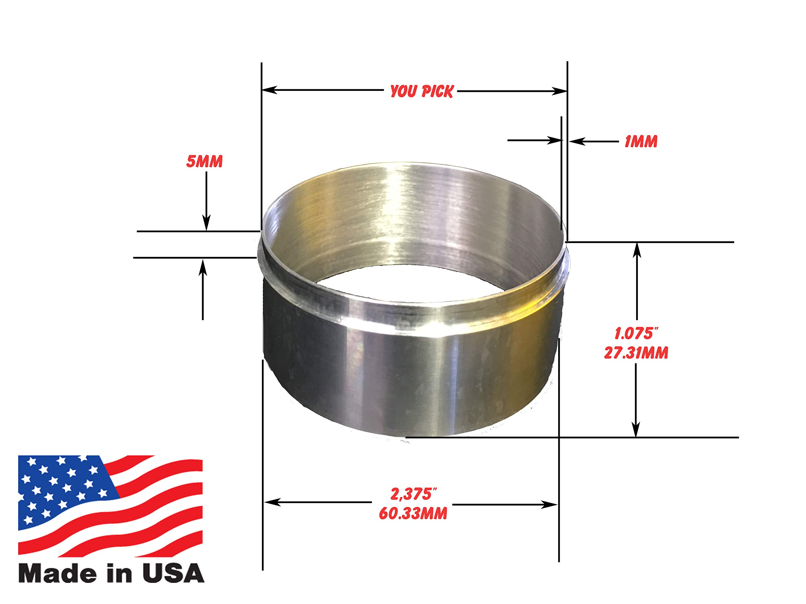Coffee Ground Dosage Ring Stainless Steel Dosing Funnels Made in USA (57mmds-SS) by Coffee Complements