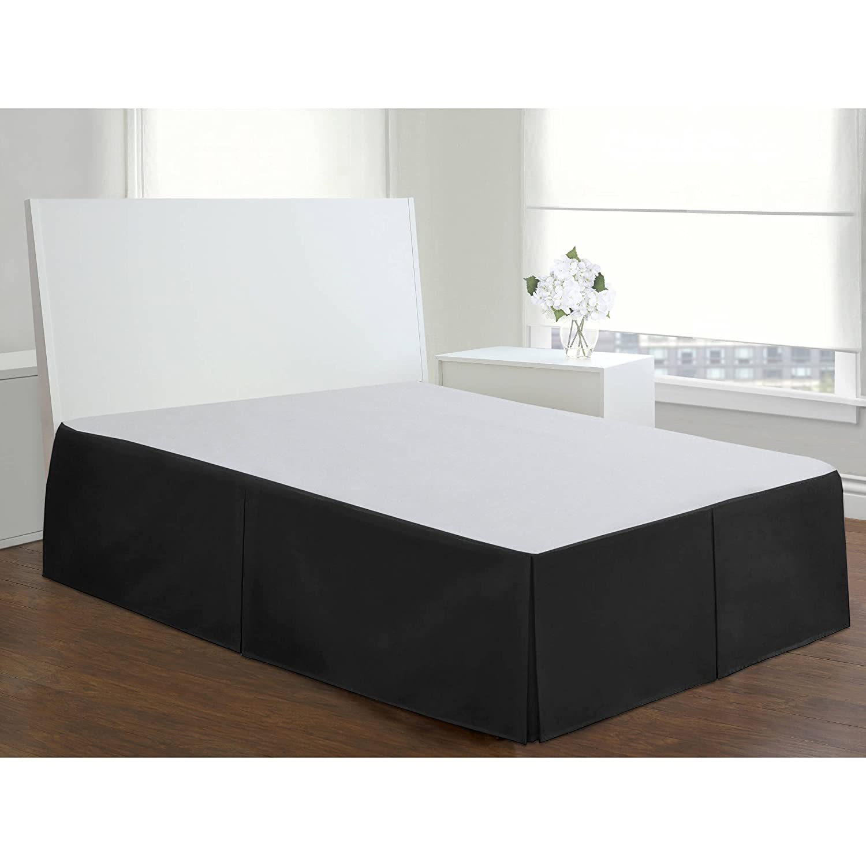 Fascinationベッドskirt-durable & Stiff velvet-bed valance-15インチdrop-noピンrequired-boxプリーツ Queen-60 x 80
