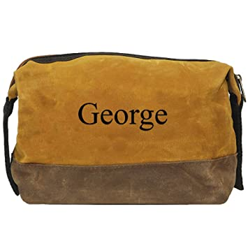 997fc7565928 Amazon.com   Waxed Canvas Mens Dopp Kit (Yellow)   Beauty