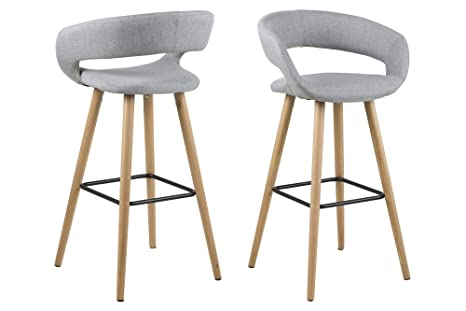 Ac design furniture jack sgabello in tessuto con struttura in