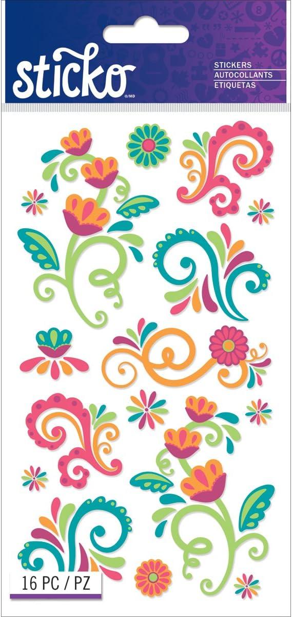 Sticko Classic Bright Flourishes Stickers