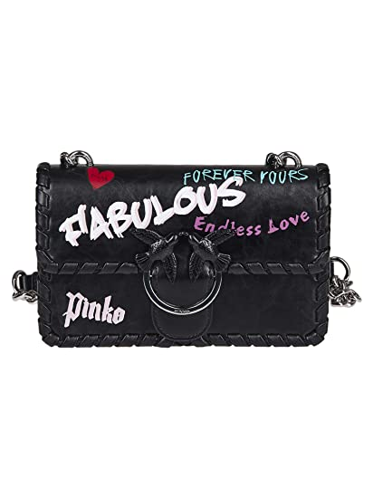 3a9cf86270 Pinko Mini Love Fabulous Shoulder bag black: Amazon.co.uk: Clothing