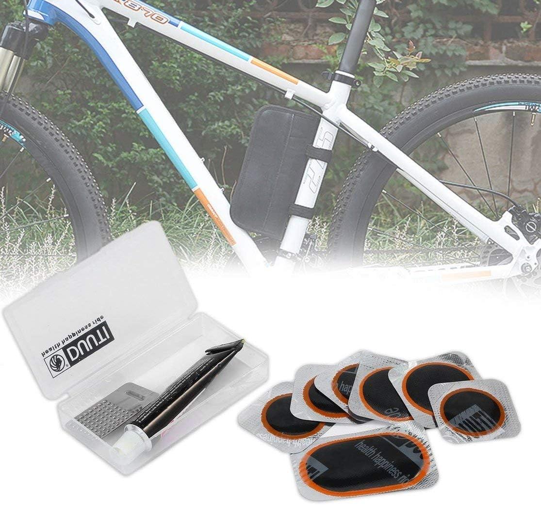 Radfahren Fahrrad Fahrrad-Reparatur-Fix Kit Flache Gummireifen Reifenschlauch Patch-Kleber Set Fahrrad-Reparatur-Zubeh/ör Kaemma0