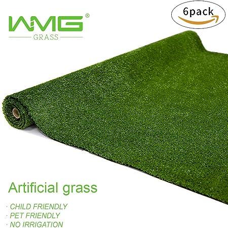 Amazon Com Wmg Artificial Grass Lawn 4 X6 Synthetic Turf Grass