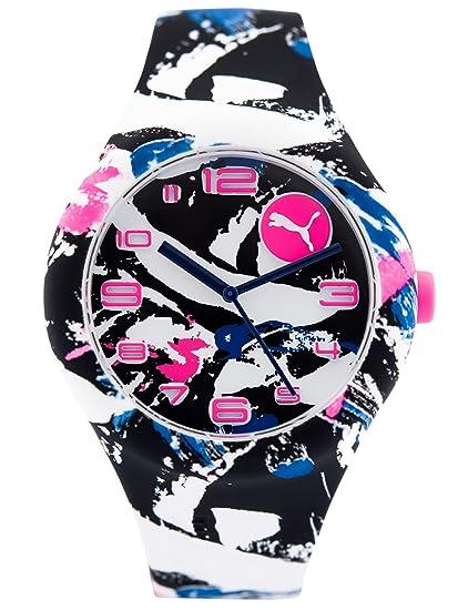 Puma Reloj Analógico para Mujer de Cuarzo con Correa en Silicona PU103001022: Amazon.es: Relojes