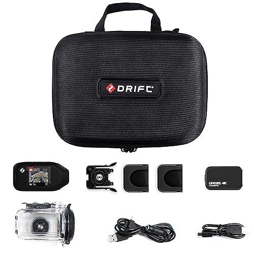 Drift HD GHOST 4K UHD Motorcycle Action Helmet Camera + FREE Case & LCD Screen