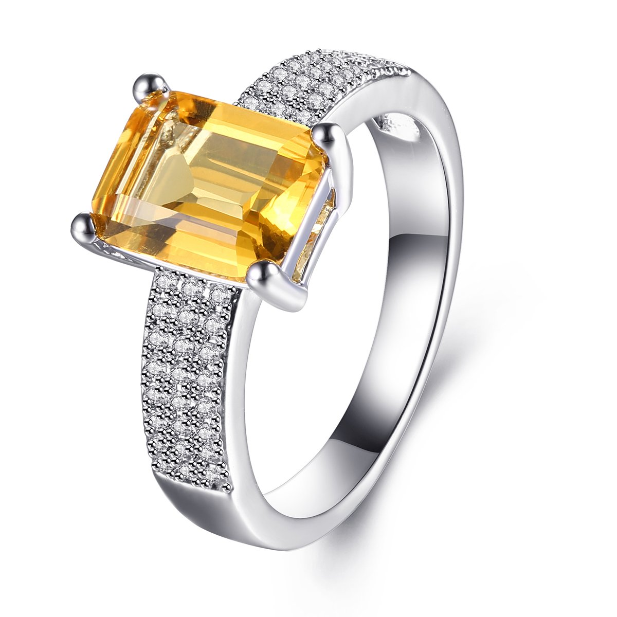 Women Rings White AAA Cubic Zirconia Rhodium Plated Ring Charming ElegantTrendy Party Jewelry Size 5 6 7 8 9 Jiangyue JWZ2696