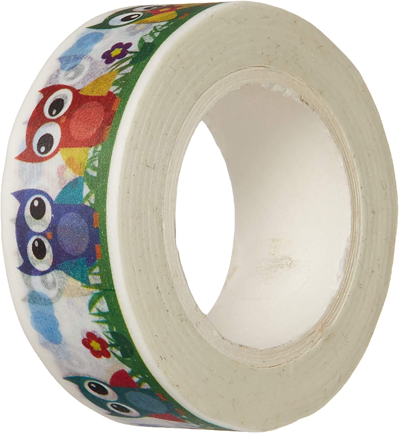 Wrapables Colorful Masking Tape, Cutie Owls Washi