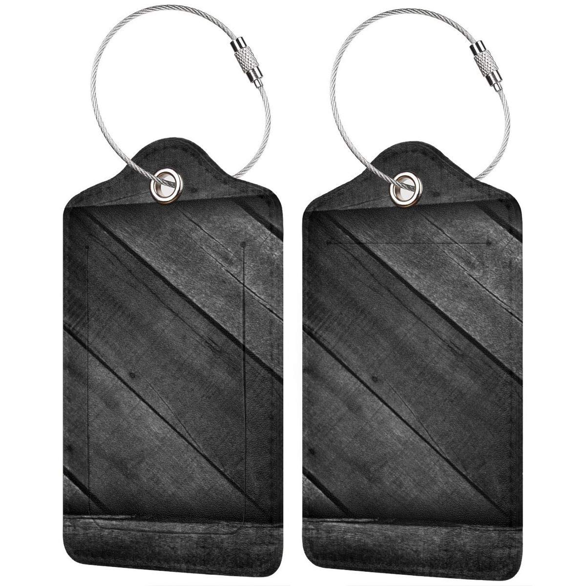 11 Luggage Tag Label Travel Bag Label With Privacy Cover Luggage Tag Leather Personalized Suitcase Tag Travel Accessories Wood Texture