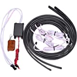 XKTTSUEERCRR 7 Color LED Under Car Glow Underbody System Neon Lights Kit W/sound and Control