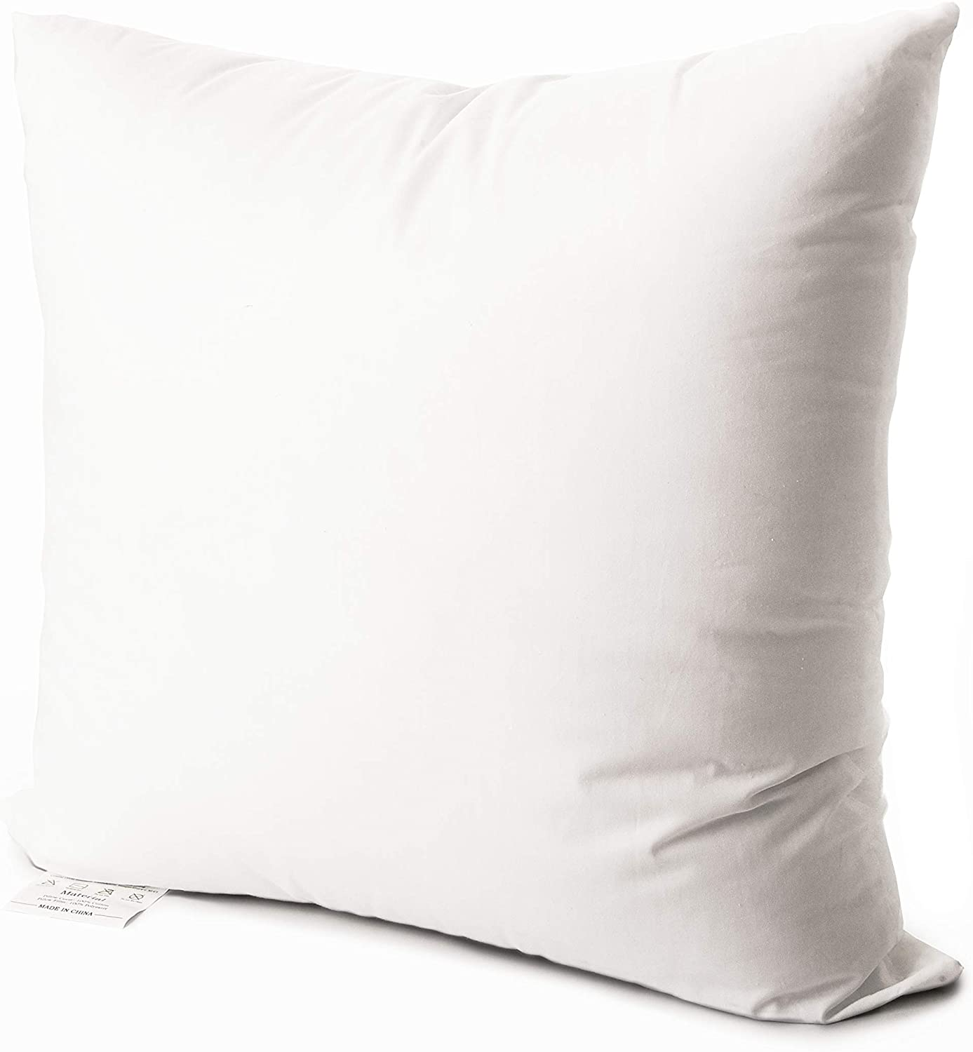 Phantoscope Set of 2 Soft Microfiber Liner Polyester Fill Hypoallergenic Throw Pillow Inserts Square Form Sham Stuffer 18 x 18 45 x 45 cm