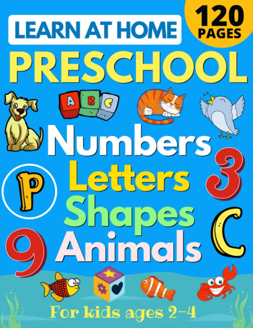 Learn at Home Preschool Numbers, Letters, Shapes & Animals for ...