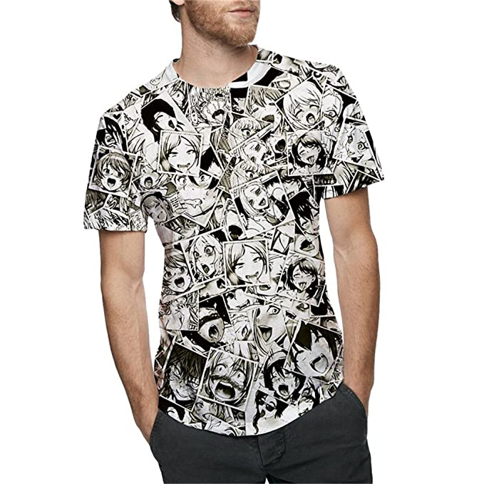 Mens Ahegao Anime Hipster Hip Hop o Cuello Tees Tops Casuales 3D Plus Size  Tshirt  Amazon.es  Ropa y accesorios d1a0a0cdc6c
