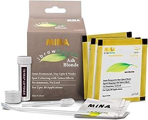 MINA ibrow Henna Ash Blonde Tint Kit | Long Lasting Upto 6 weeks | Spot Colouring Effects | Upto 30 Applications