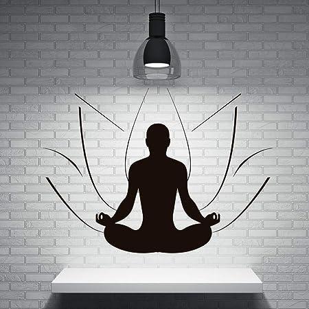 supmsds Meditación Hombre Lotus Grandes Pegatinas de Pared ...
