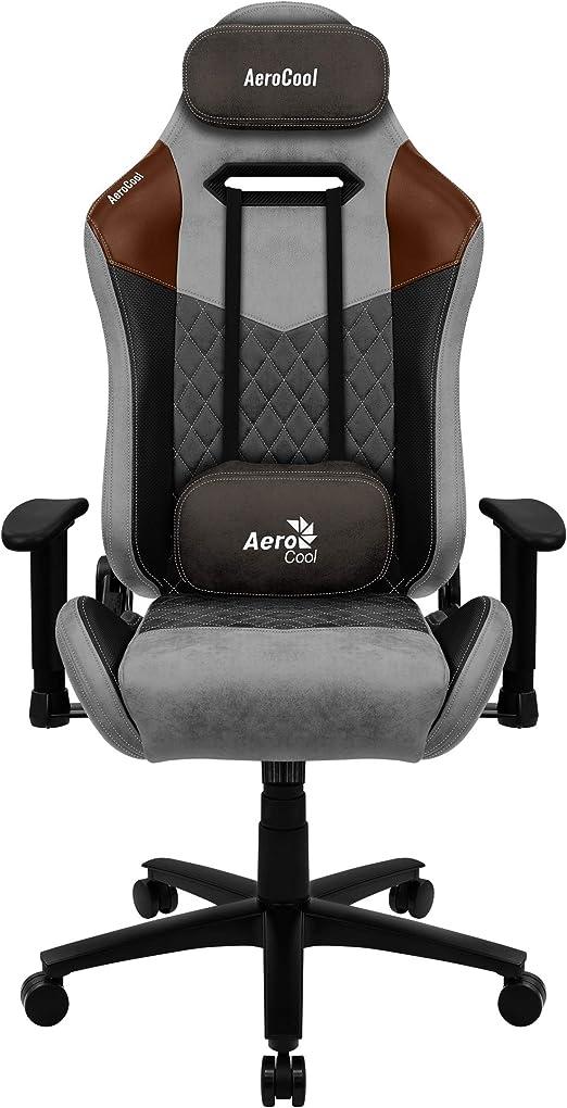 Aerocool Duke Silla Gaming, AeroSuede Transpirable, Respaldo Ajustable, Negro, Gris: Amazon.es: Juguetes y juegos