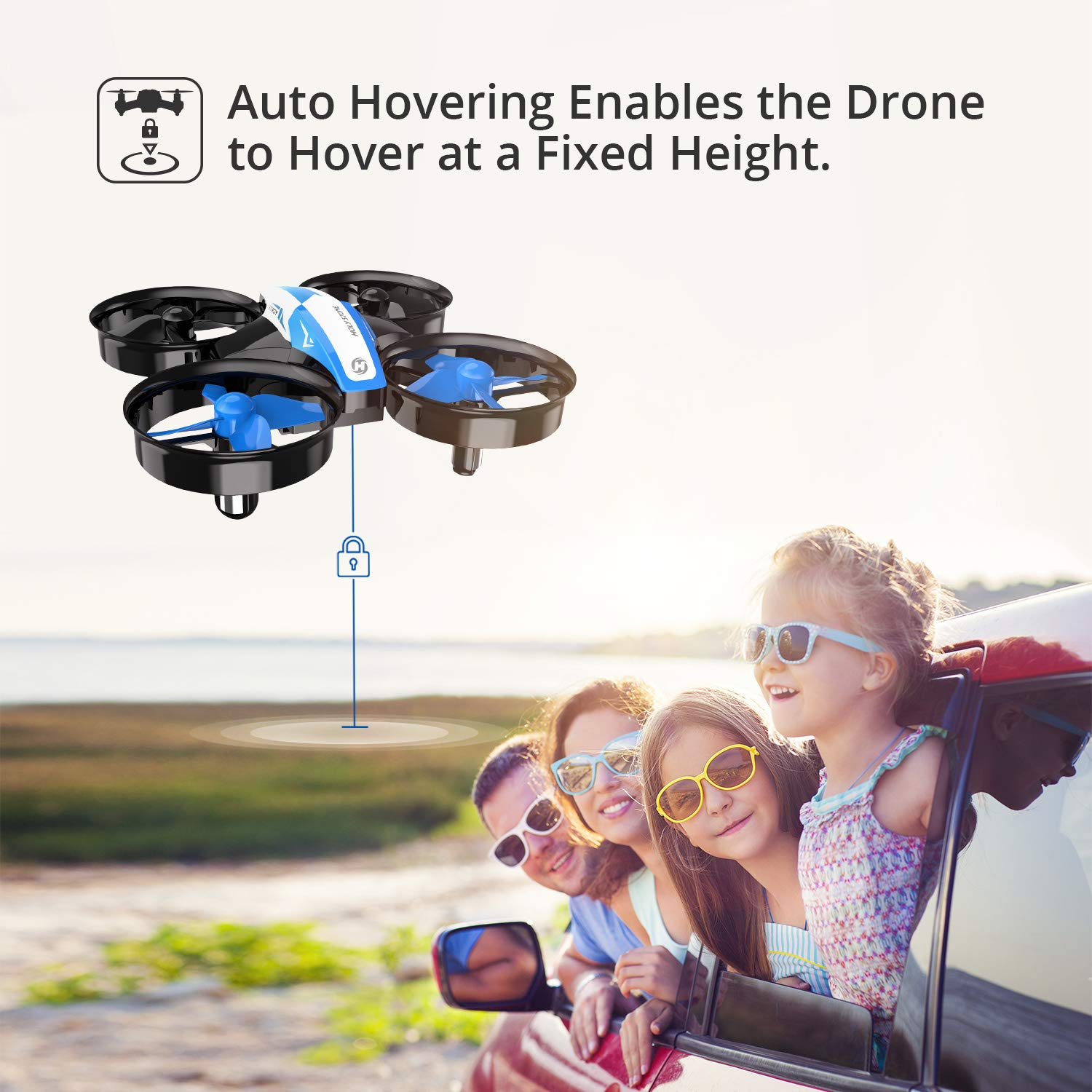 Holy Stone Mini Drone for Kids and Beginners RC Nano Quadcopter Indoor Small Helicopter Plane with Auto Hovering, 3D Flip, Headless Mode and 3 Batteries, Great Gift Toy for Boys and Girls, Blue by Holy Stone (Image #2)