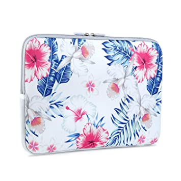 iLeadon 13 Inch Laptop Sleeve Case Neoprene Sleeve Cover Bag For 13.3 Macbook Air Pro Retina Surface Laptop Waterproof Protection Chromebook 12.9-inch iPad Pro Tablet Case 13 inch, Palm Leaf /& Tree