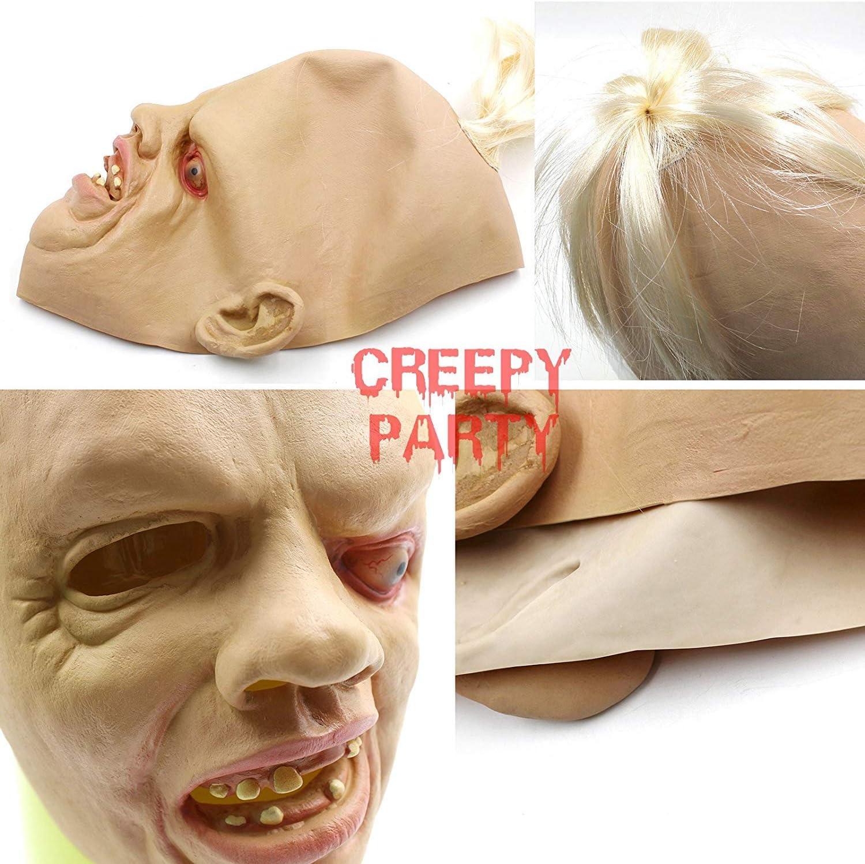 LLWGNZM Maschera di Halloween-Maschera Cosplay Pasqua Durr Burger Maschere per Adulti Casco in Lattice a Testa Piena Costume di Halloween Puntelli per Feste