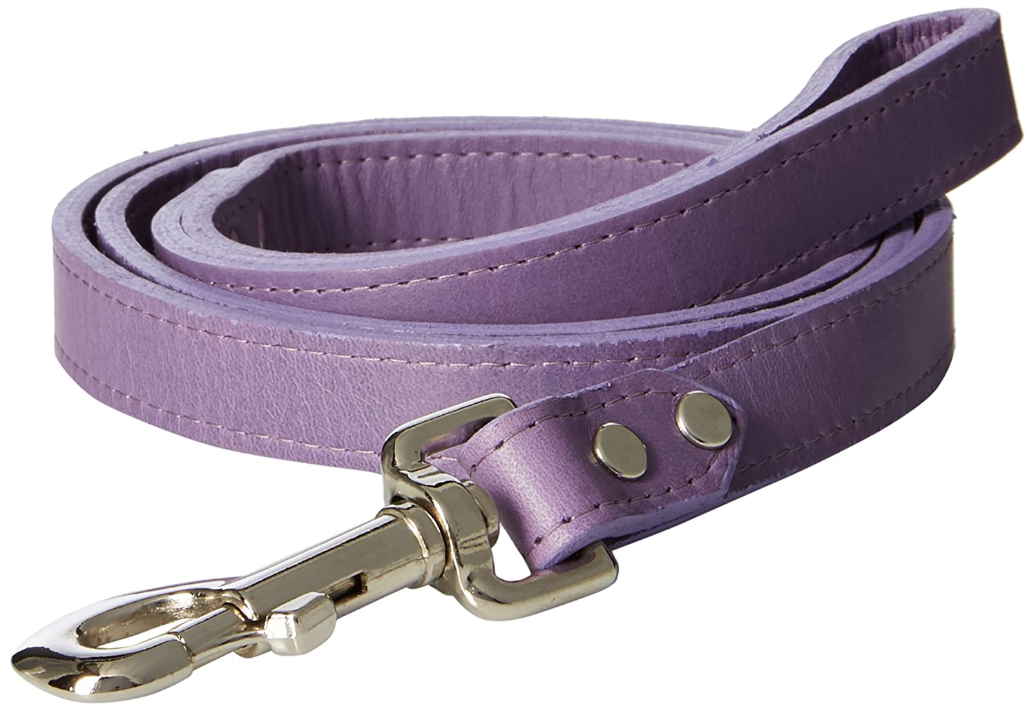 OmniPet 6075-LV Signature Leather Dog Leash, Lavender, 3 4  x 4'