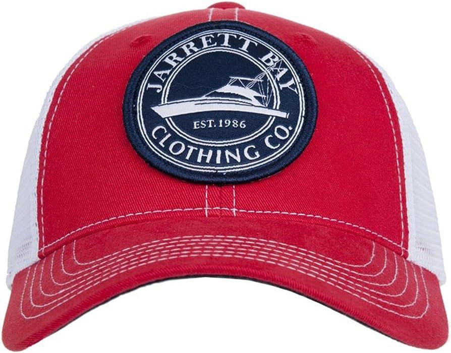 7c66a9449a18e Jarrett Bay Circle Boat Patch - Trucker Hat at Amazon Men s Clothing store