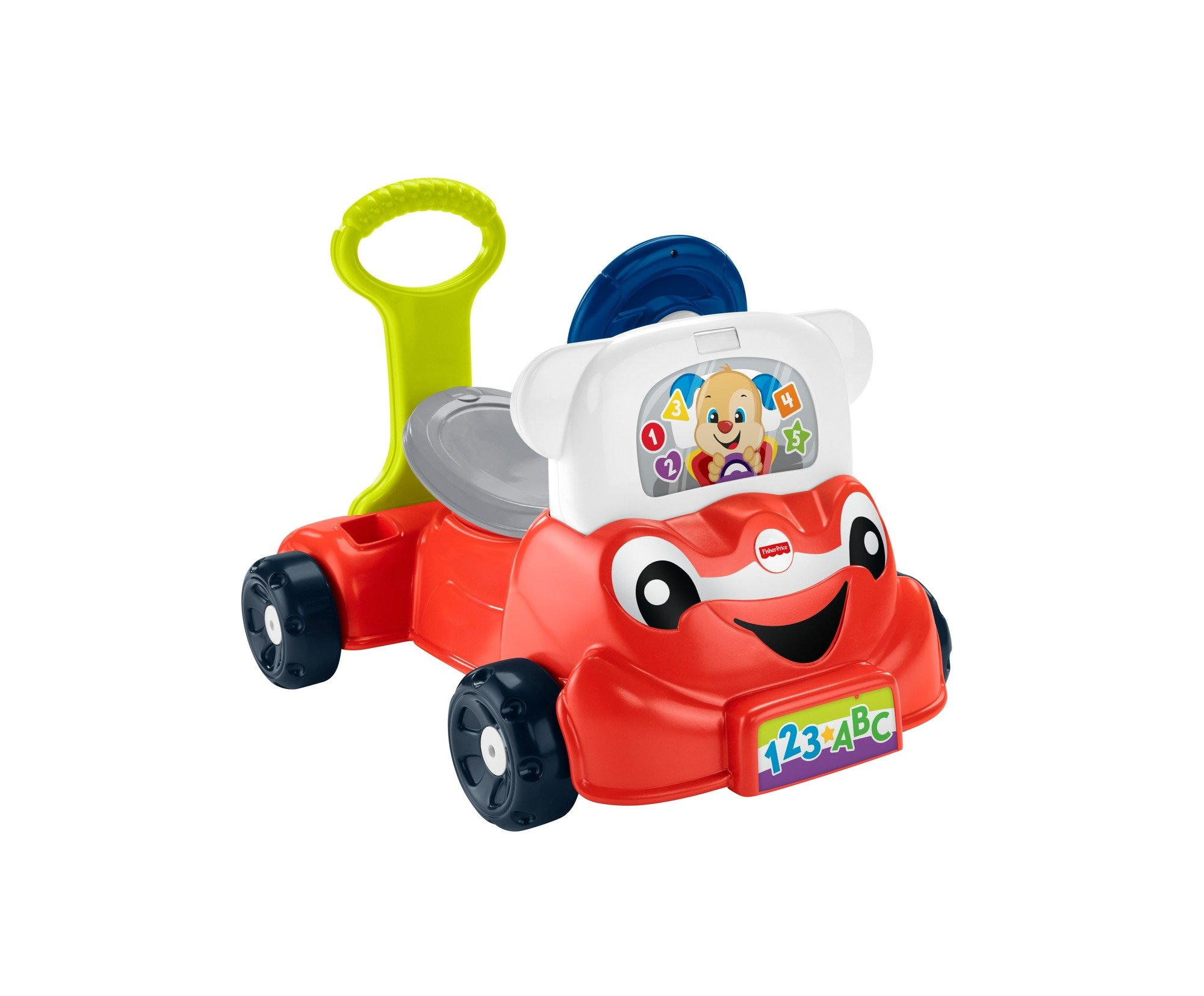 Fisher-Price GCY33 Laugh and Learn 3-in-1 Smart Car, Interactive Learning and Role Play Toy, Push Along Toy, Gift for 9 Months