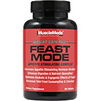 MuscleMeds Feast Mode Appetite Stimulant Weight Gain Pills Digestive Enzymes Safe and Effective 90 Caps, Unflavored, 1…