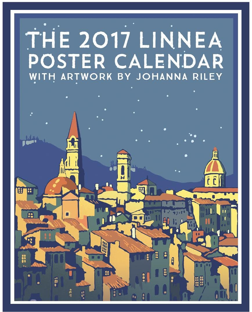 Linnea Design 2017 Poster Calendar Art By Johanna Riley