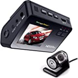 "Dash Cam Dashboard Dual Camera Recorder with HD 1080P 720P VGA,170°Wide Angle Lens, 2"" LCD Screen, Rear view Camera"