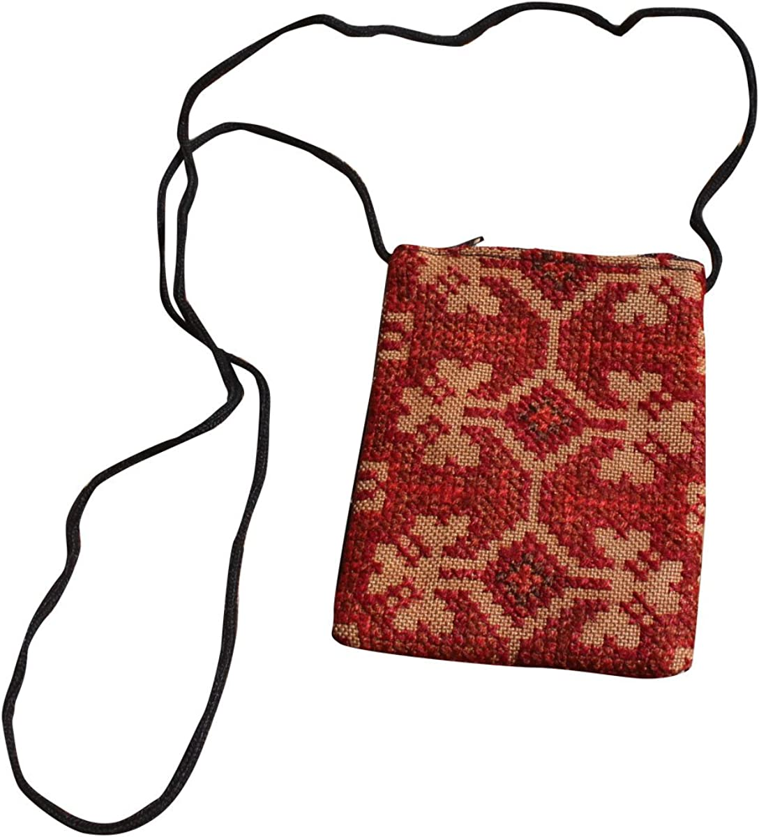 Full Funk Hill Tribe Stitched Mobile Phone Square Bag Pouch with Strap