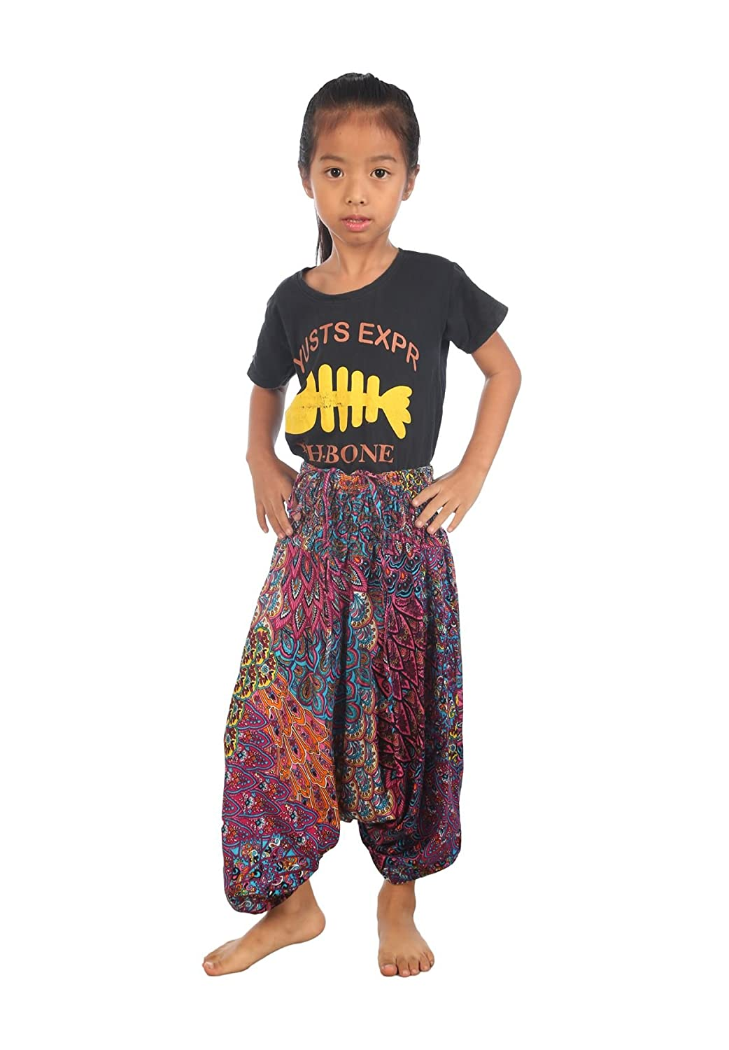 Lofbaz Baby Infant Harem Thai Aladdin Pirate Children Pants Bohemian Baggy Hippy