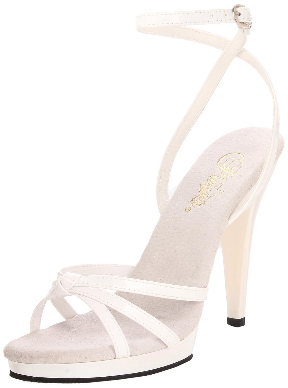 Pleaser Women's Flair-436 Platform Sandal B0016MZ2HC 15 B(M) US|White Patent/White