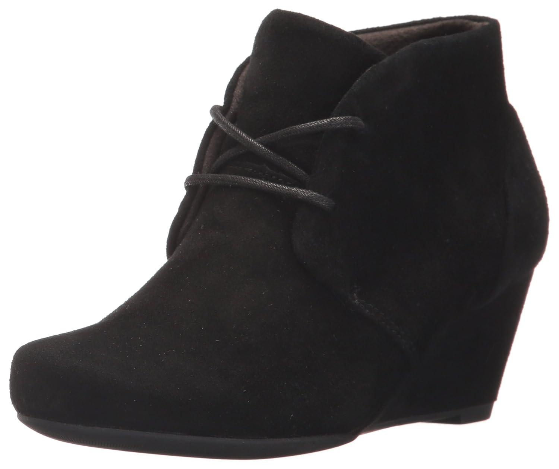 CLARKS Women's Flores Rose Ankle Bootie B01N6G88HW 12 W US|Black Suede