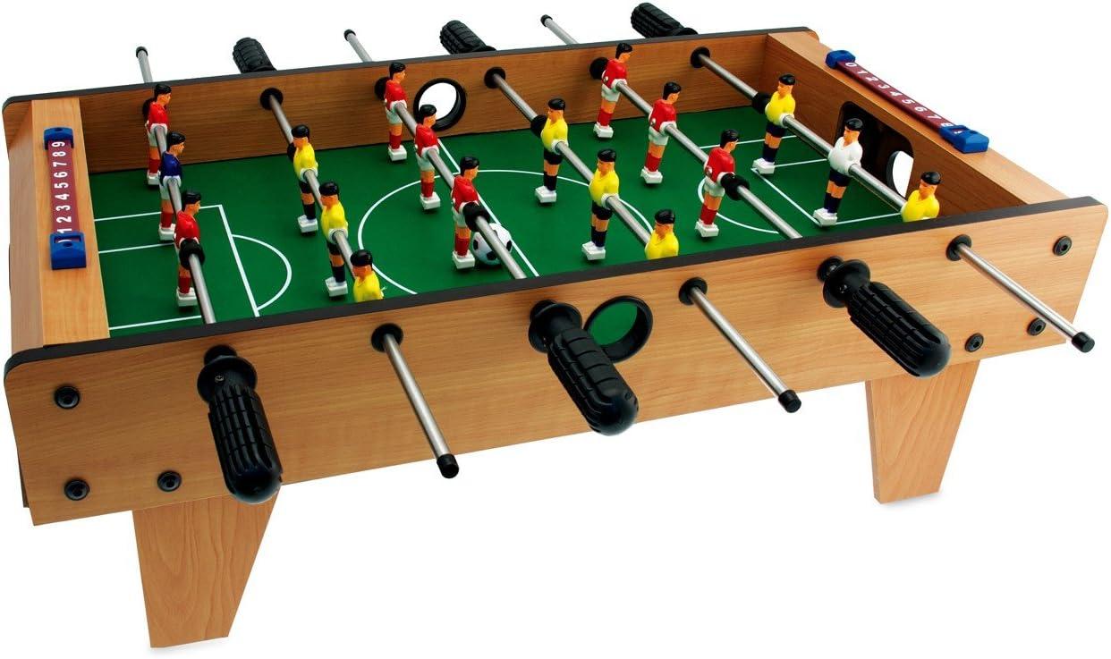 634454 Futbolín de mesa CALCETTO TEOREMA de madera y 6 líneas 69 x 37 cm: Amazon.es: Juguetes y juegos