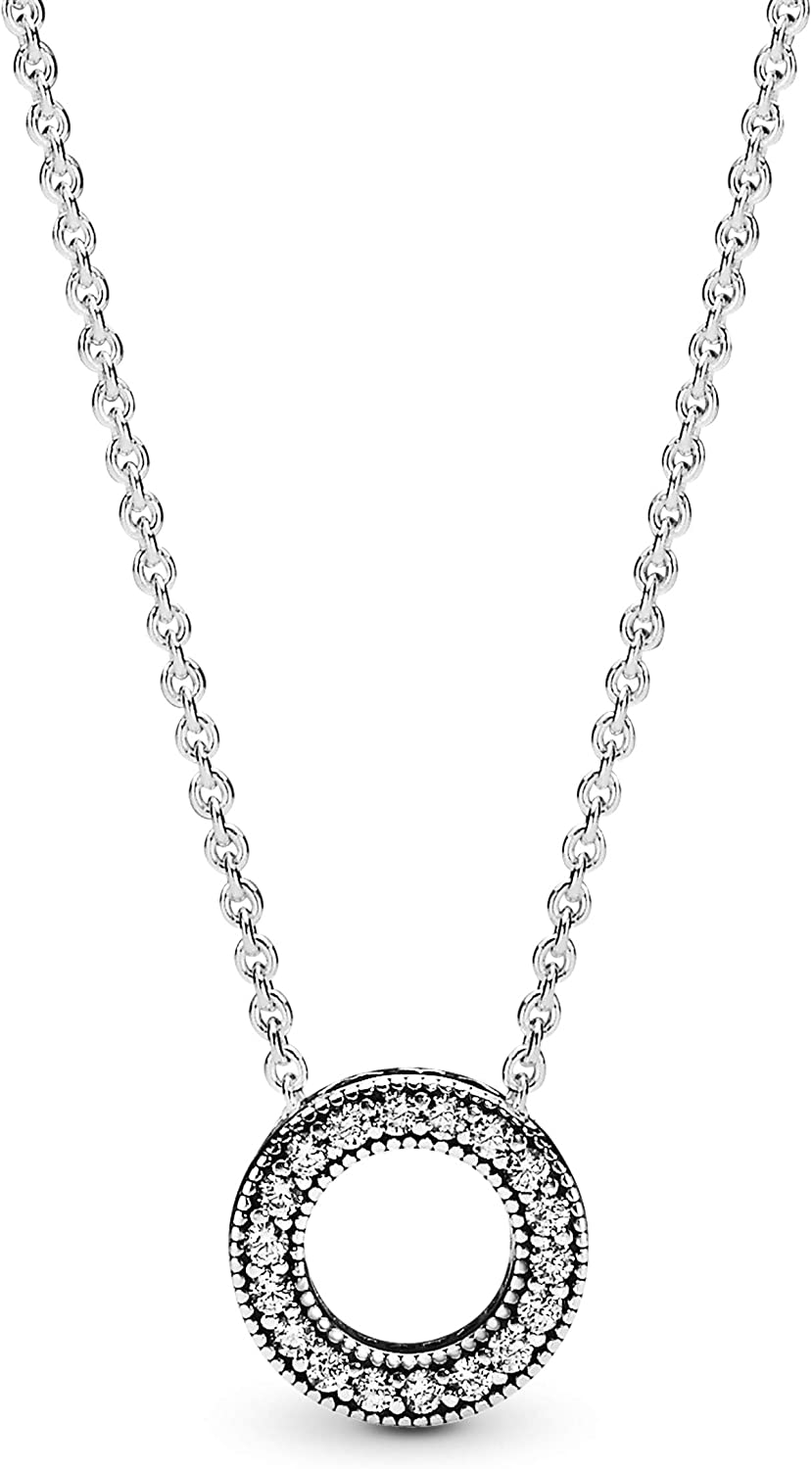 Pandora Jewelry - Hearts Of Pandora Necklace in Sterling Silver...