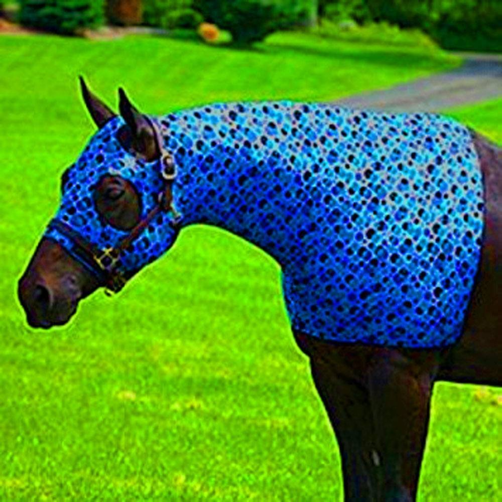 Sleazy Sleepwear for Horses Large Bubbles Print Zipper Stretch Hood