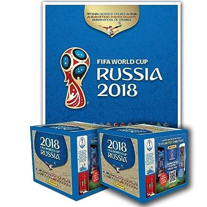 786ba44db Amazon.com : Panini 2018 FIFA WORLD CUP RUSSIA ALBUM + 2 BOXES : Sports &  Outdoors