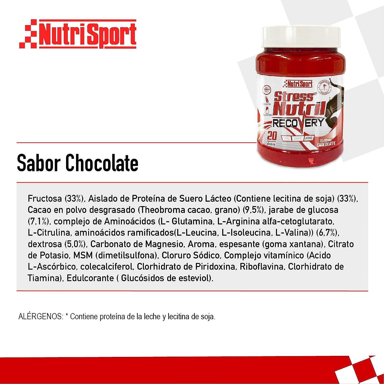 Nutrisport StressNutril Recovery, Batido para Recuperación Muscular, Sabor Chocolate, 800 g