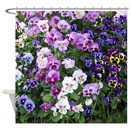 CafePress Pansies Decorative Fabric Shower Curtain 69quot