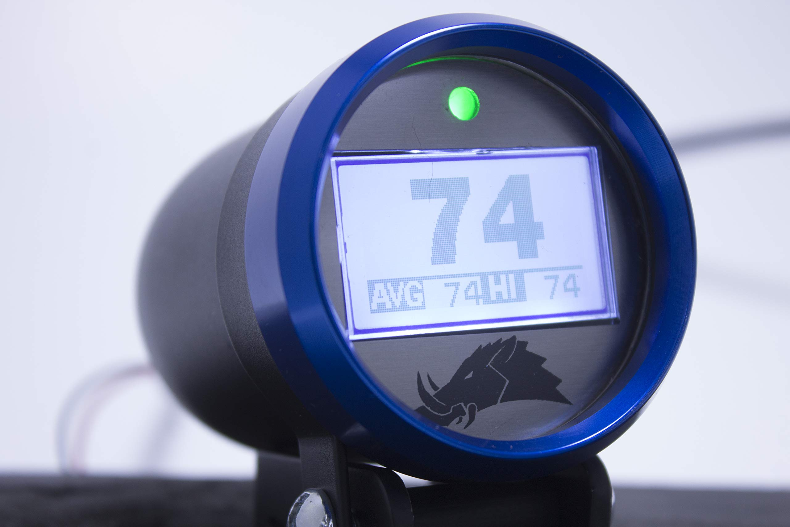 Belt Temperature Gauge w/Infrared Sensor (for UTVs and Snowmobiles) - 3.0 Edition (Polaris RZR 2-Seater, Blue) by Razorback Technology (Image #1)