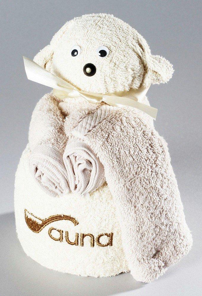 Frottier regalo Set Origami invitados toalla de lavado Guante, diseño/Art: Sauna oso: Amazon.es: Hogar