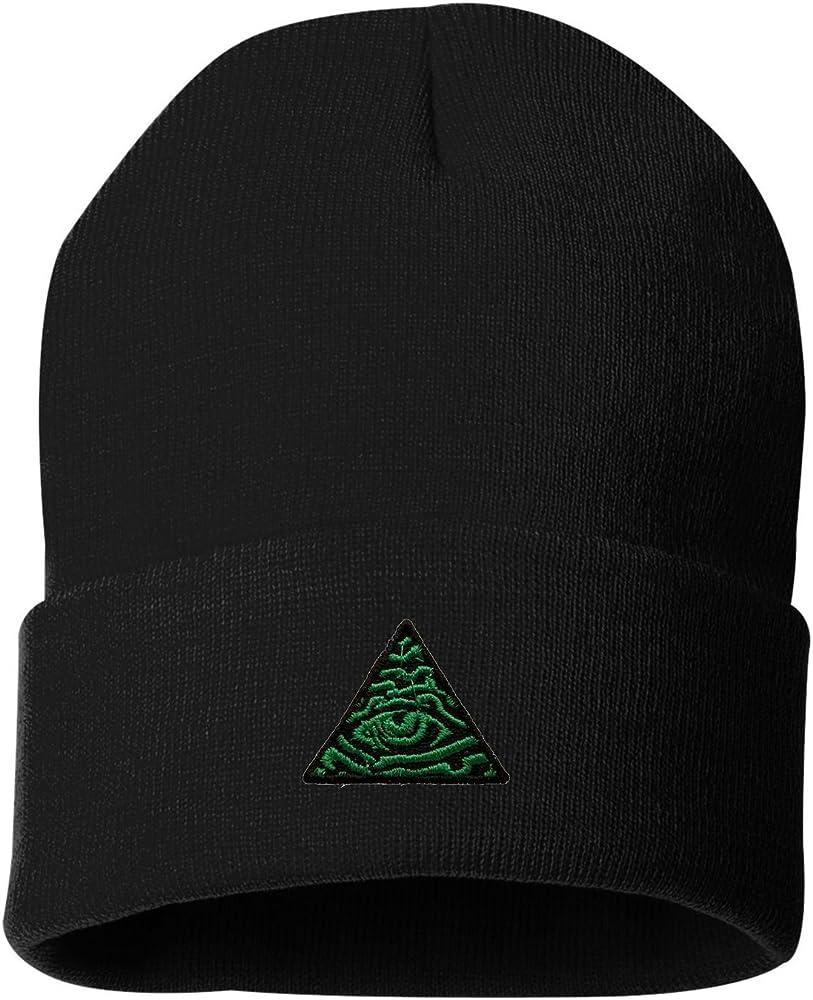 Red Freemason Eyes Skull Hats Knit Cap for Mens