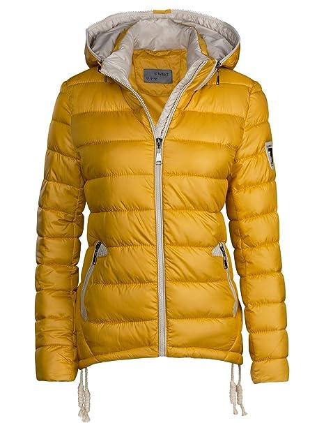 94ee807b7d S'West, Giacca da sci invernale da donna, corta, trapuntata effetto  piumino, con cappuccio