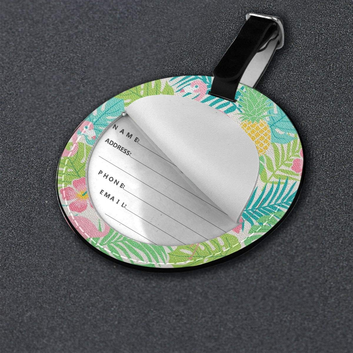 Luggage Tags Tropical Cute Flamingo Bird Travel Accessories Baggage Name Tags